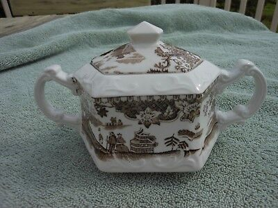 """Enoch Woods """"asian Scenery""""  Sugar Bowl-Believed To Be Reproduction!"""