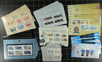Weeda Canada VF mint NH Lot of Souvenir Sheets FV $119.52 Face Value up to $1.25