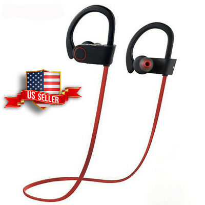 Sweatproof Headphones Wireless Bluetooth Headset Sport Earphone Stereo Earbuds