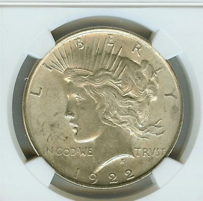 1922-P Peace Silver Dollar ($1), Philadelphia Mint, 90% Silver, NGC, MS-63