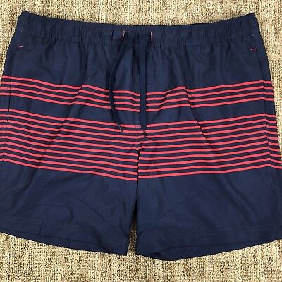 0df6ca0c8c015 Trinity Collective Men's Volley Hybrid Swim Shorts Navy & Red Size X-Large  A2715