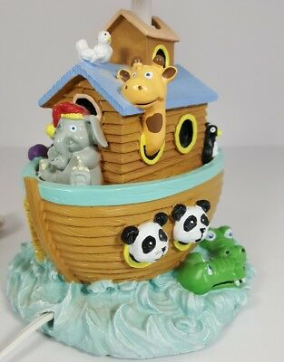 NOAHS ARK Table LAMP Baby Nursery Kids Genesis Bible Story with Animals.