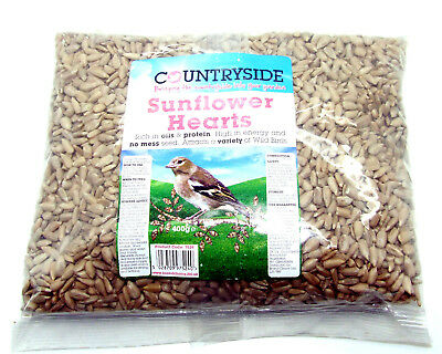 ** Countryside Wild Bird Sunflower Hearts 400g Bag - Wild Bird Seeds / Food **