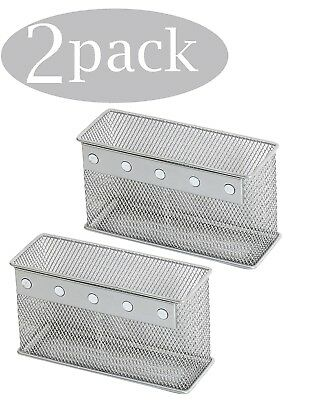 Ybmhome Wire Mesh Magnetic Storage Basket, Silver 2305-2 Sold Per 2 Pieces