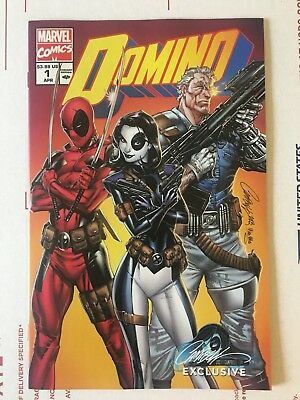 Domino 1 J Scott Campbell Exclusive Variant Cover B