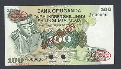 Uganda 100 Shillings ND(1973) P9bs Specimen TDLR Uncirculated