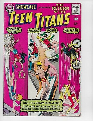 Showcase 59 - Vg+ 4.5 - 3Rd Appearance Of The Teen Titans (1965)