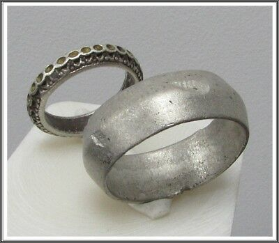 Ancient pair of Wedding Silver Roman Rings **AMAZING**RARE**