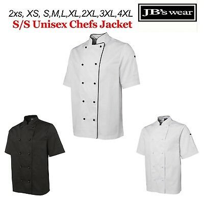Chefs Jacket Short Sleeve JBs Wear 2XS XS S M L XL 2XL 3XL 4XL - 5CJ2