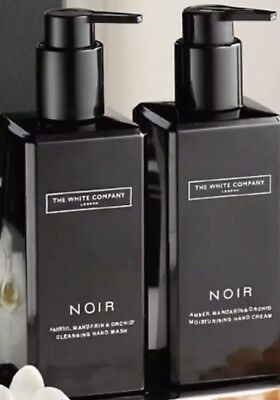 The White Company Noir Cleansing Hand Wash And Hand & Body Lotion 300ml