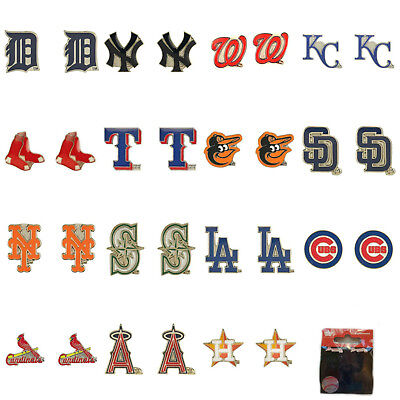 MLB Aminco Post Stud Earrings All Teams Official Licensed - Pick Your Team!