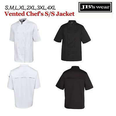 VENTED Chefs Jacket SHORT Sleeve JBs Wear  S M L XL 2XL 3XL 4XL - 5CVS