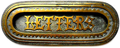 Antique Art Deco LETTERS Slot --Heavy, Ornate, Cast Brass from Wales