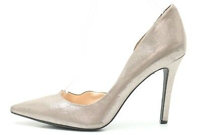12725313b2fe JESSICA SIMPSON CLAUDETTE gray shimmer fabric pointy toe pumps shoes sz.  9.5 M
