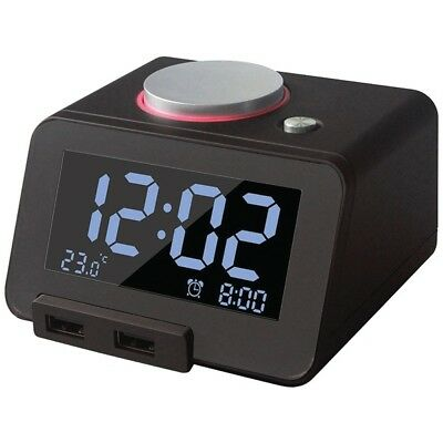 HOMTIME 19302 Homtime C1Pro Bluetooth(R) Alarm Clock with Dual USB Chargers (...