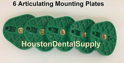 6 Dental Articulating Mounting Plate OBLONG GREEN Heavy Duty Plastic Material