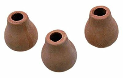 """Creative Time 3 Clay Pots, 1"""" W"""