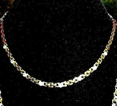 Vintage Shiny Gold Tone Link Chain Necklace