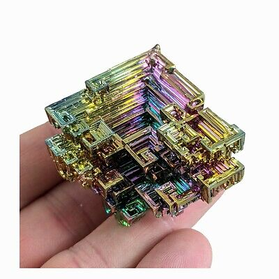 GEMCORE: One (1) Lg Superior Rainbow Bismuth Crystal Mineral Specimen Education
