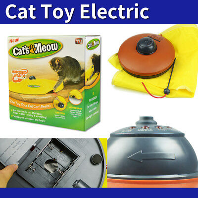 Electronic Interactive Cat's Cats Meow Toys Undercover Fabric Moving Mouse AU