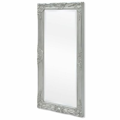 vidaXL Silver Wall Mirror Ornate Vanity Baroque Bedroom Hallway Living Room Home