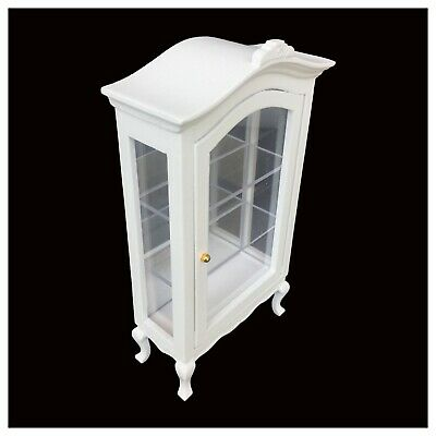 1:12 Dollhouse Miniature Furniture Display Cabinet Showcase Shelf Wood WD0222