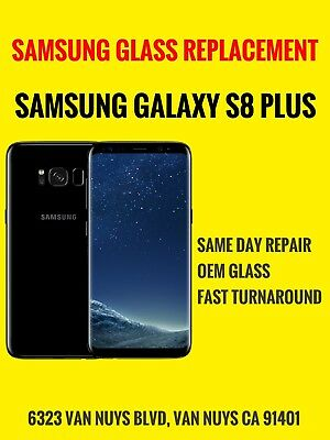 Samsung Galaxy S8 PLUS Cracked Screen Glass Repair Replacement Mail-in Service