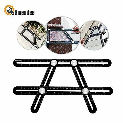Amenitee Universal Angularizer Ruler - Full Metal Multi Angle Measuring