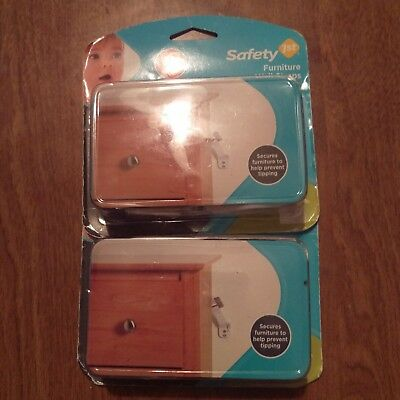 SAFETY 1ST Furniture Wall Straps 2-Pack 11014 Lot Of 2 Sets