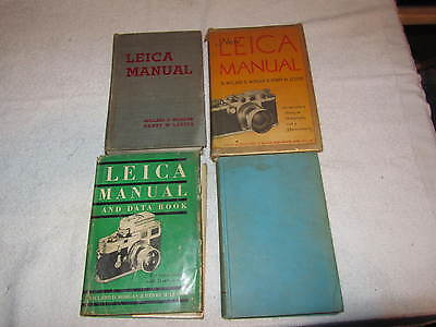 4 Vtg Leica Books-LEICA MANUAL AND DATA BOOK,NEW LEICA MANUAL,+ OTHERS.1937,1951
