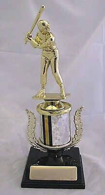Baseball Male Figurine Trophy 230mm Engraved FREE