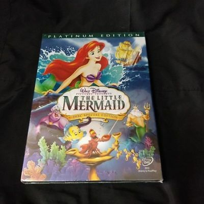 Free Shipping New Disney Little Mermaid (DVD, 2006, Two-Disc, Platinum Edition)