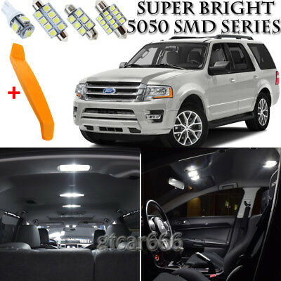12x White LED lights interior package kit for 2003-2013 Ford Expedition FE2W