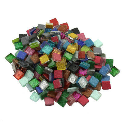 200Pcs  Decoration Mixed color Crystal Bling Bright 1cm Glass Mosaic Tiles TO458
