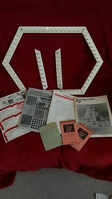 Vintage love and money crafts hexagonal hand/lap loom by John allen with extras