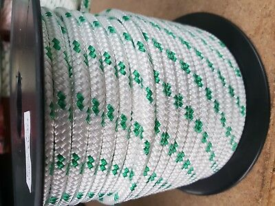 6MM Double Braided Rope Polyester Yacht Rope 30MTS Green Fleck
