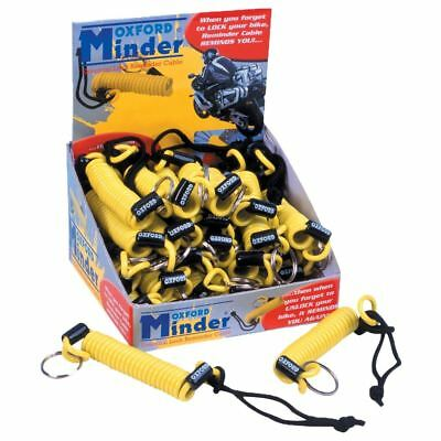 Oxford Motorcycle/Bike/Scooter Minder Cable (25 Pack) - Yellow OF390