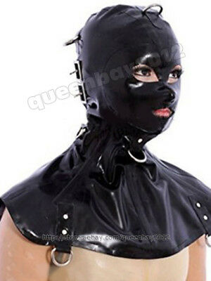 Neu!!100% Latex Rubber Vollkapselung Maske Mask Hood Catsuit Anzug Party Kostüm