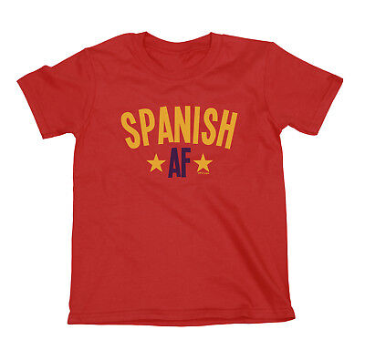 SPANISH AF Boys or Girls Espana Spain T-Shirt FOOTBALL Womens World Cup 2019