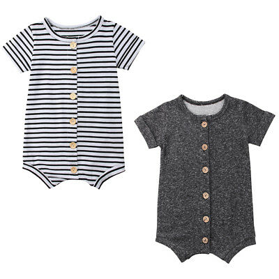 Newborn Infant Baby Boys Girls Romper Bodysuit Jumpsuit Outfits Overalls Clothes