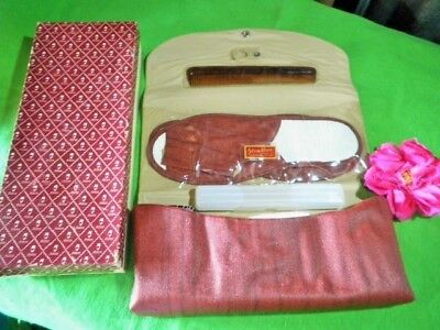 Vintage Mens Vanity Set Travel Valet Stratton Original Box Unused Grooming Set