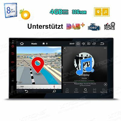 4+32GB Octa Core 2 Din Android 8.0 GPS 7 Zoll Autoradio MP3 USB Navi OBD2 DAB+