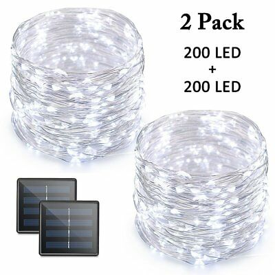 Vmanoo LED String Lights, 72 Feet 200 LED Solar Powered Copper Wire Starry Rope