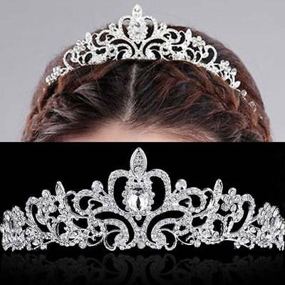 Wedding Bridal Princess Crystal Prom Hair Tiara Crown Headband Party Jewelry
