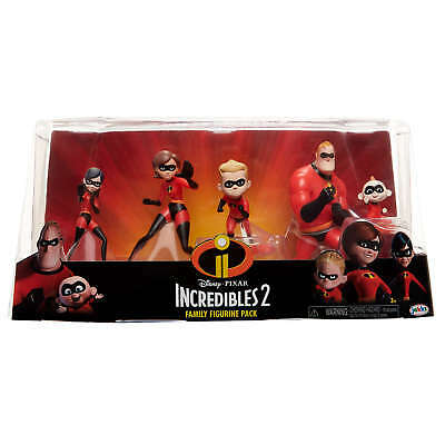 Disney Pixar The Incredibles 2 Family Figurine Pack NEW