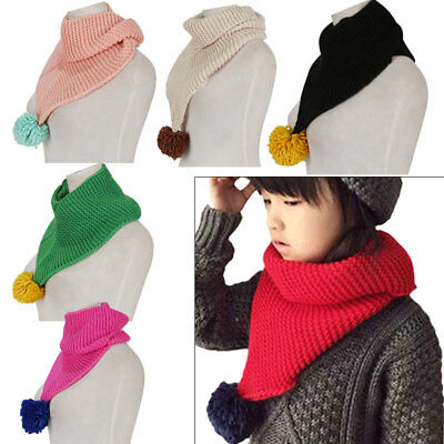 Winter Warm Boy Girls Collar Baby Scarf Children Solid Color O Ring Neck Scarves