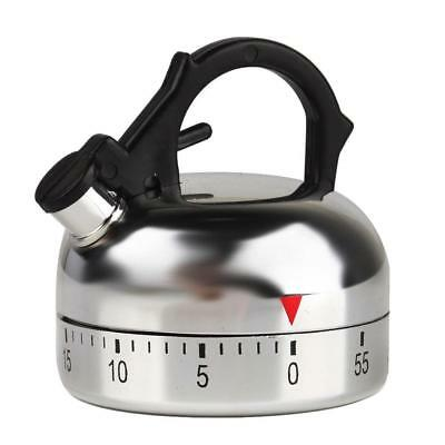 60 Minute Teapot Shaped Counting Kitchen Alarm Clock Timer Mechanical JMUS