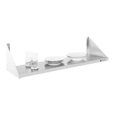 Practical Simple Stainless Steel Kitchen Wall Shelf Easy Mount And Clean 30X90Cm