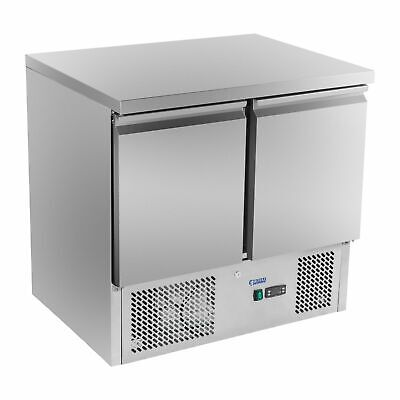 Food Pizza Prep Counter Fridge Display Worktop Refrigerated Saladette 300 Litres
