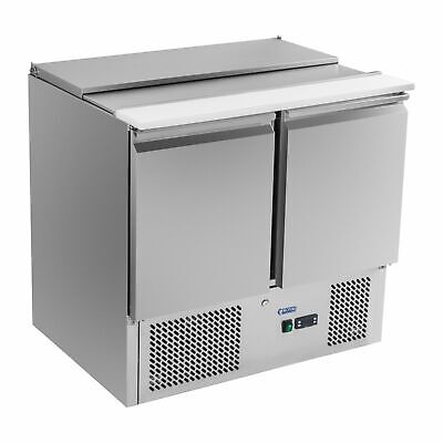 Food Pizza Prep Counter Fridge Worktop Gn Suitable Refrigerated Saladette 250 W